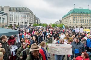 Protest am 5.5.2019 am Pariser Platz in Berlin